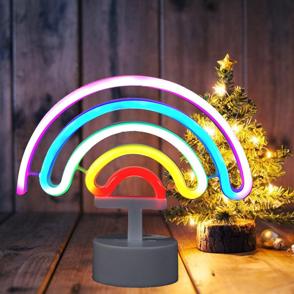 Светодиодный неоновый светильник, настенный светильник s, радужная модель, цветная неоновая лампа, домашние вечерние свадебные украшения, Р...