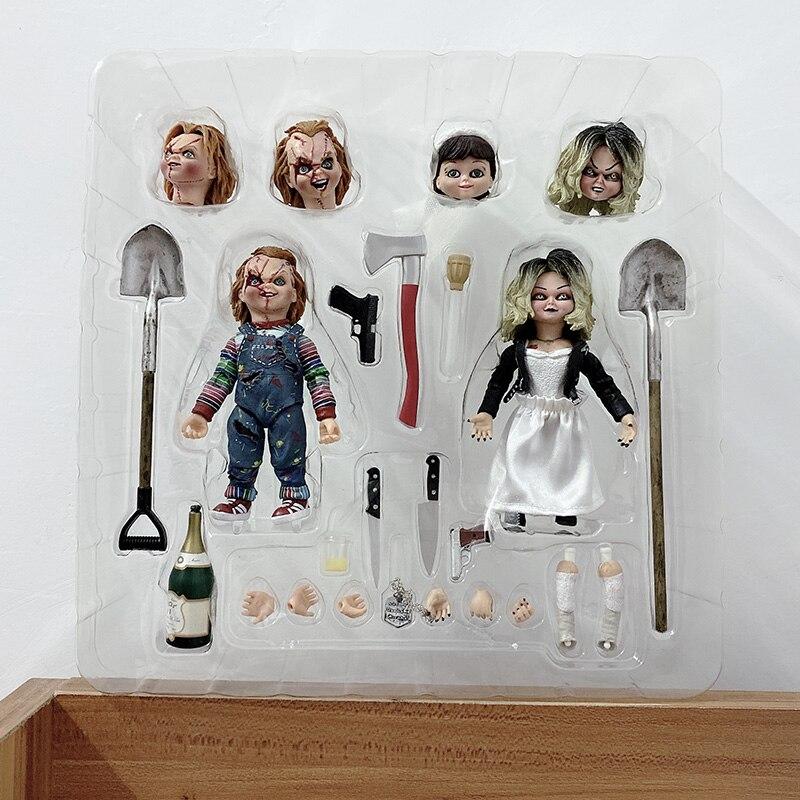 NECA, figura de la novia de Chucky, figura de Chucky Tiffany definitiva, consigue la suerte, figuras de acción de PVC Chucky, juguete de Horror, regalo de Halloween