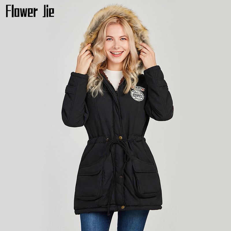 new mens winter cotton padded long coat black hooded parka thick warm casual plus size m xxxxxl u73 Winter Jacket Women 2020 New Plus Size Thick Warm Hooded Long Parka Mujer Cotton Padded Coat Long Paragraph Slim Jackets Female