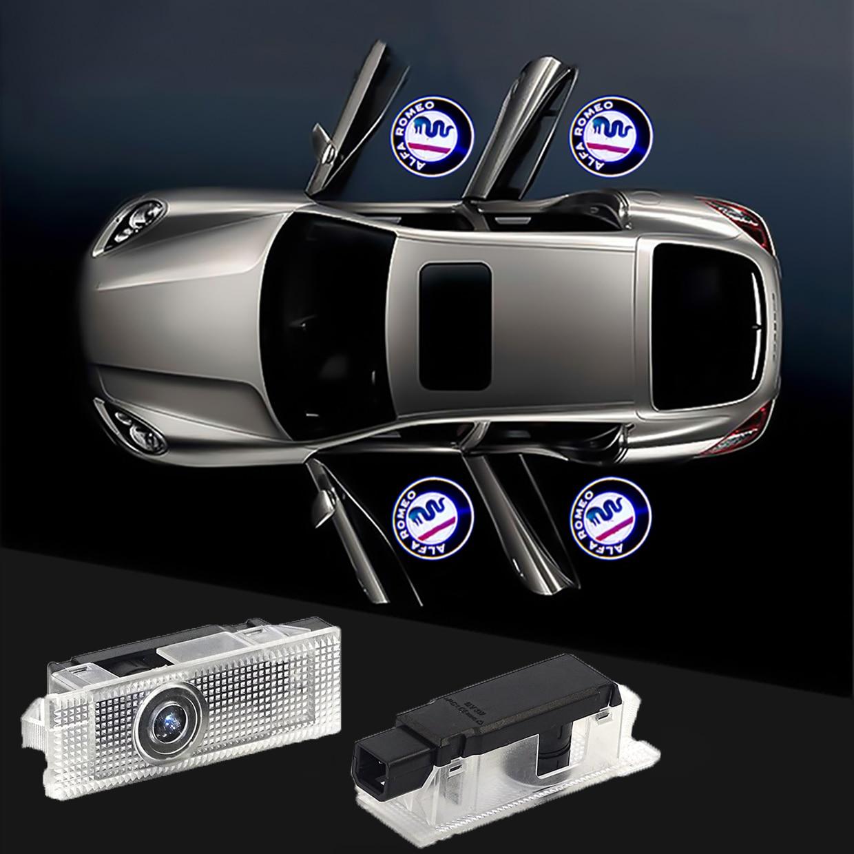 Светодиодный проектор с логотипом для Alfa Romeo, Giulia Giulietta Mito Stelvio Brera для стайлинга автомобиля