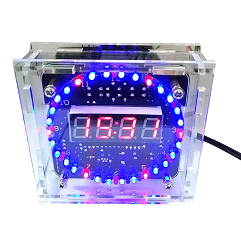DIY production of parts electronic clock kit C51 microcontroller light-controlled temperature DS1302