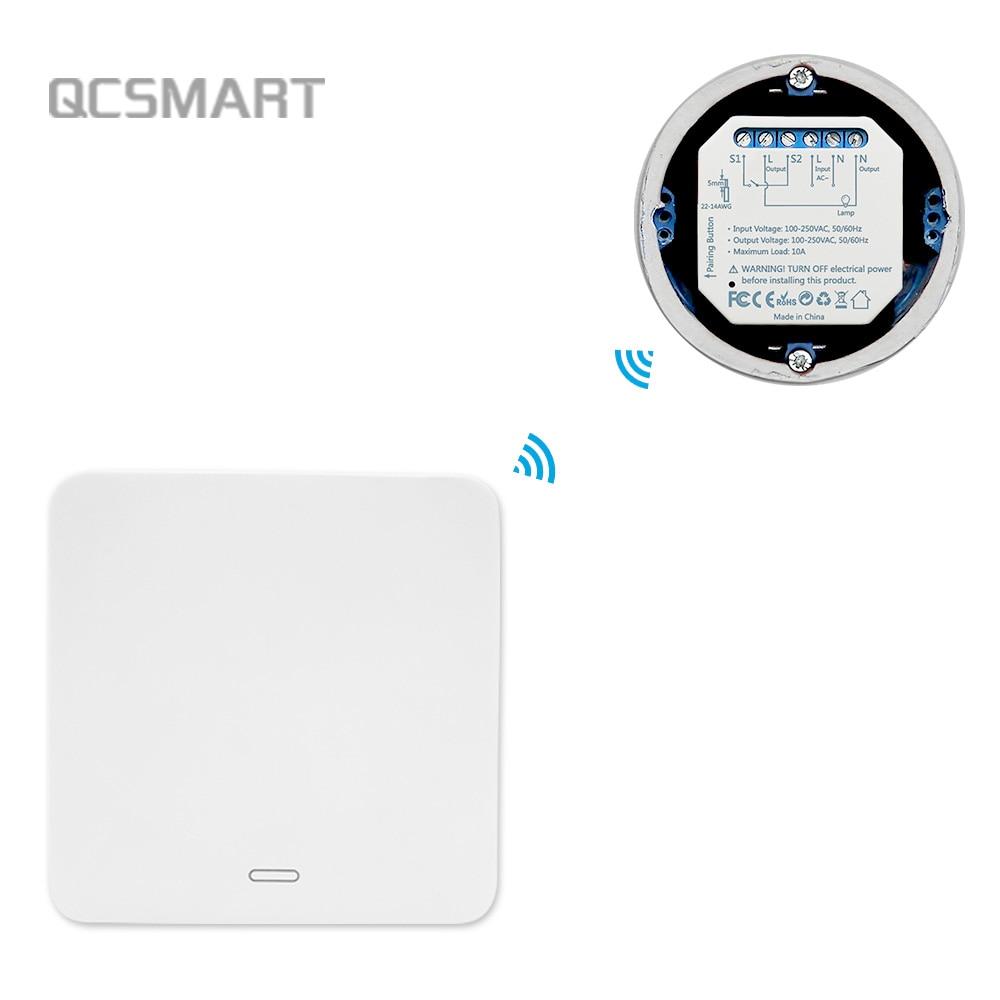 Interruptor inalámbrico por Control remoto, interruptor de luz de pared autoalimentado cinético, Kit DIY sin batería sin cables