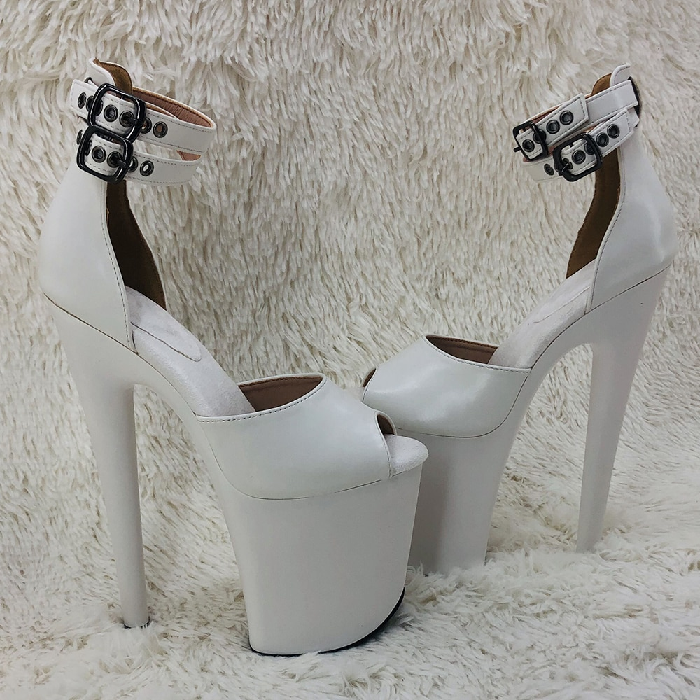Leecabe 20cm/ 8inches  fashion sexy  lady platform high heel   sandals  pole dance shoes
