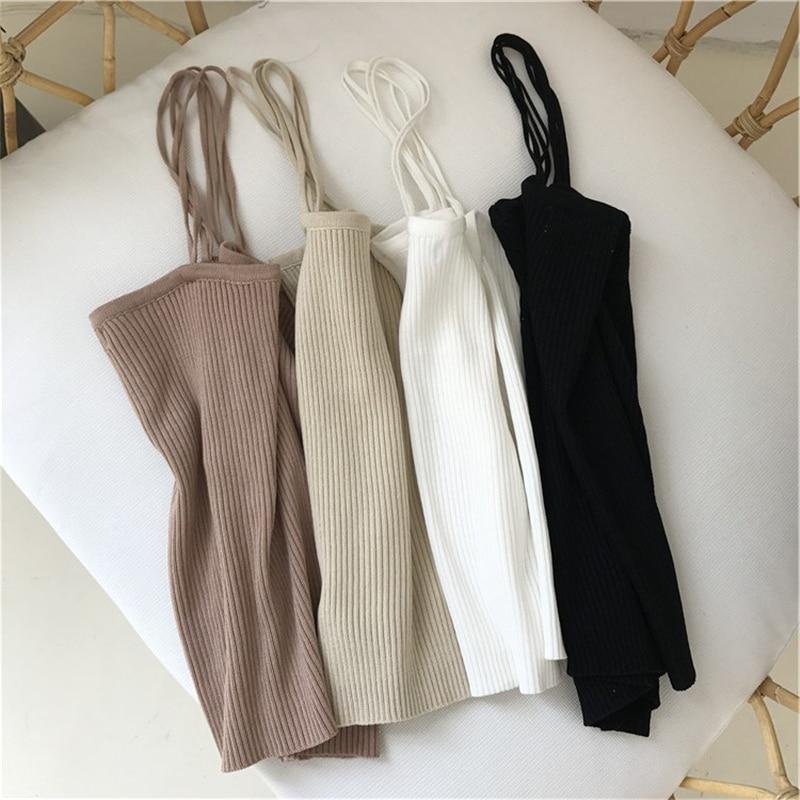 H8bfeafb965a941528c87dd35382b4097t - Summer Korean Sleeveless Basic Solid Camisole