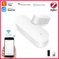 Tuya ZigBee     detecteur intelligent douverture fermeture de porte  wi-fi  interrupteur magnetique  capteur de fenetre  alarme de securite a domicile