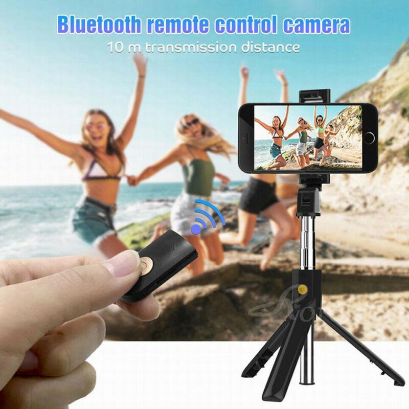 3 в 1 Беспроводная Bluetooth селфи-палка складной мини-штатив монопод с дистанционным управлением для видео светодиодные кольца макияж