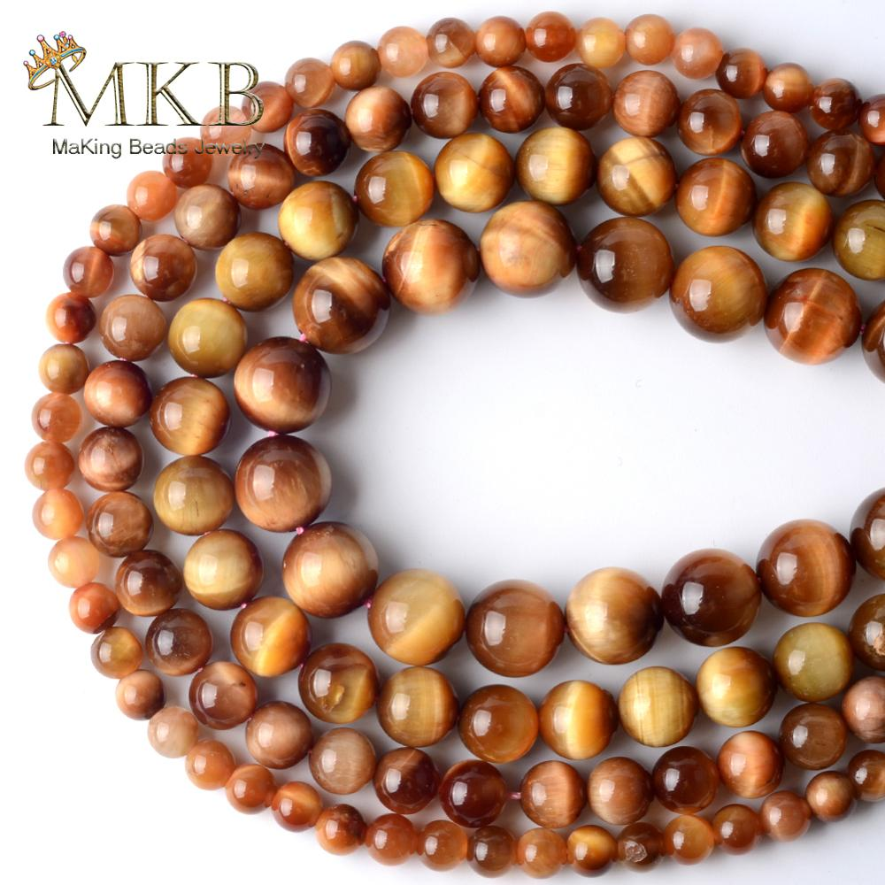 Natural sun tiger eye pedra contas redondas para fazer jóias espaçador grânulos soltos 4/6/8/10/12mm diy pulseira jóias 15 polegadas