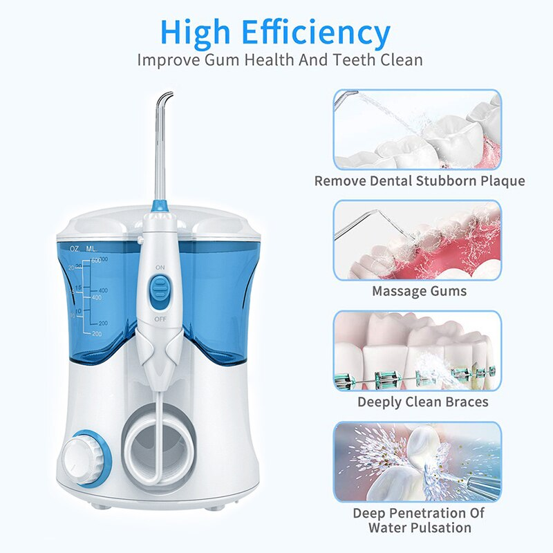 Oral Irrigator With 7 Pcs Of Tips Electric Dental Water Cleaner Oral Hygiene Dental Care Cleaning For Family enlarge