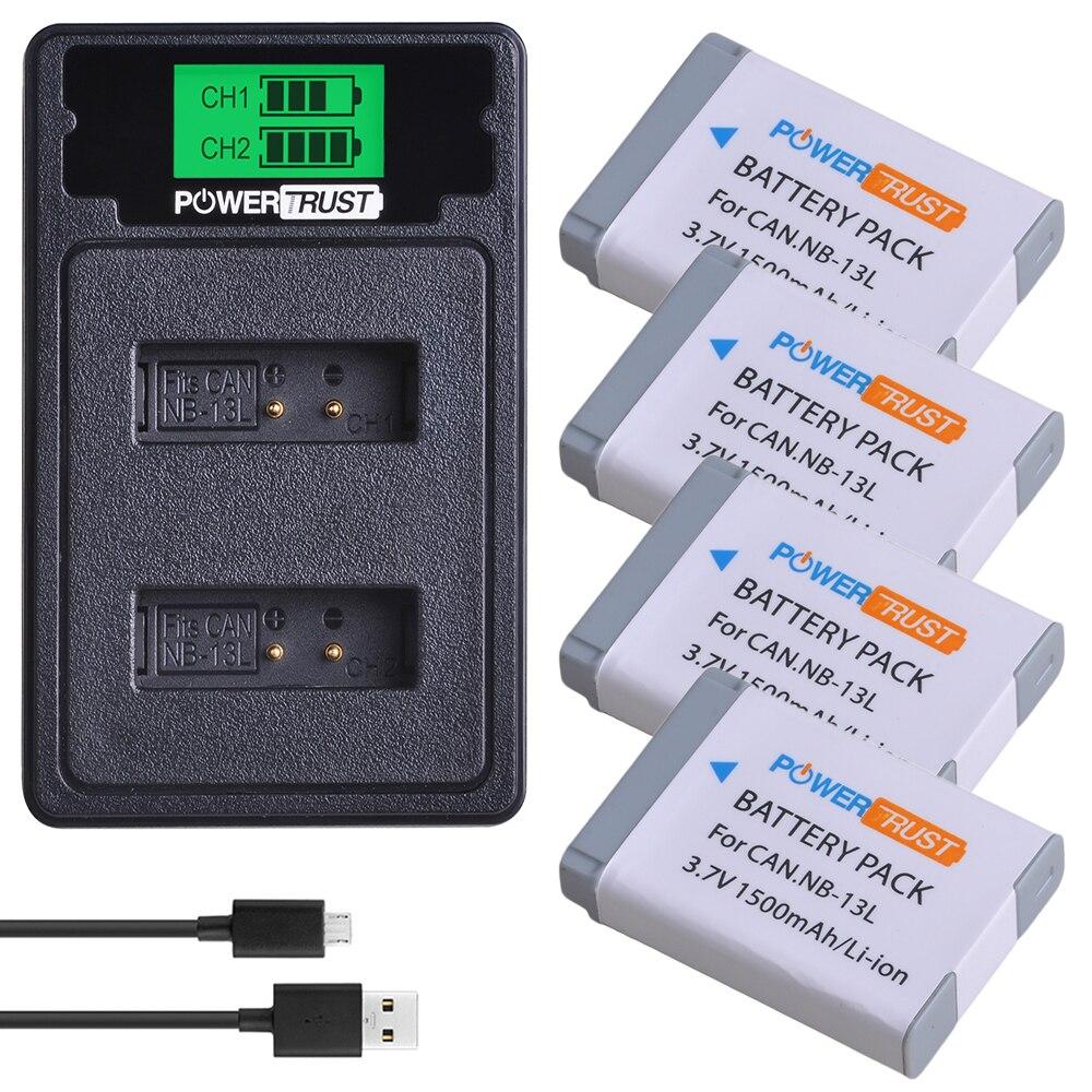 Bateria + Lcd Usb para Canon Carregador g7 x Mark ii G7x g5 g9 G9x Sx620 Sx720 hs Baterias 1500mah Nb-13l Nb13l nb 13l