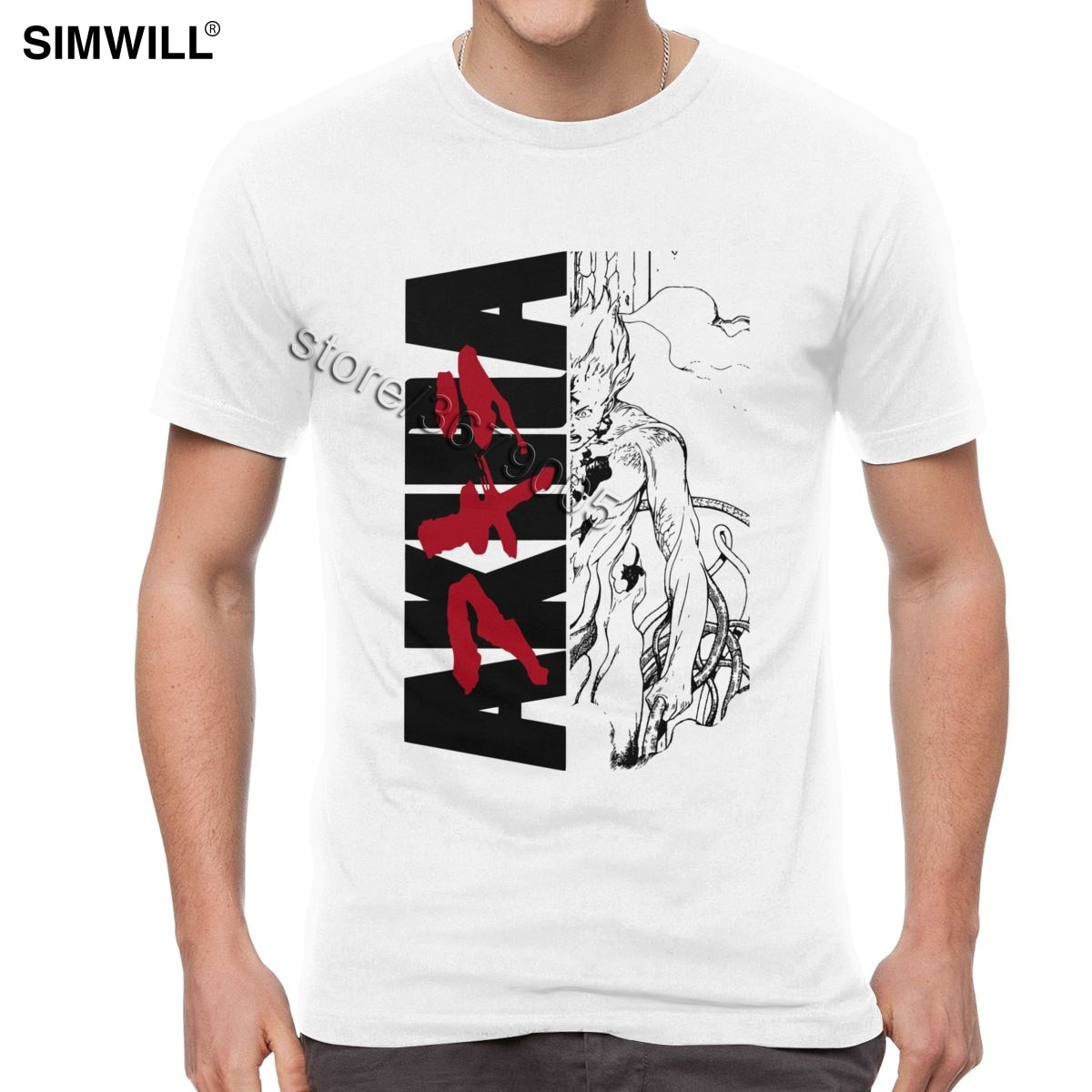 Los hombres Akira T camisa Shotaro Kaneda camisetas Streetwear Neo camiseta con...