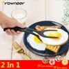2 In 1 Multipurpose Non-stick Food Clip Fried Egg Cooking Turner Pancake Spatula Pizza Barbecue Bread Clamp Thicken Smooth Tong