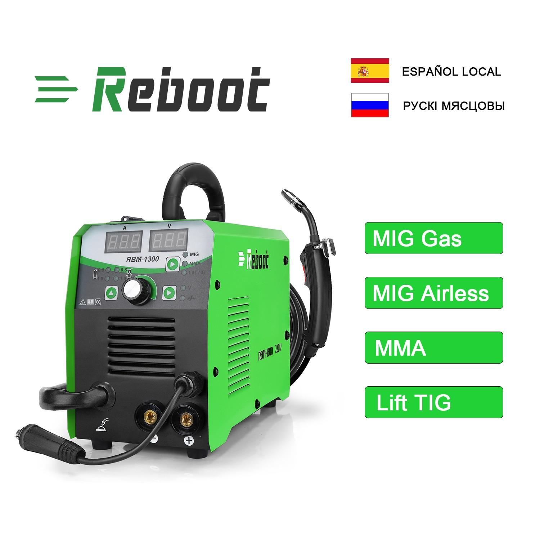 REBOOT Mig Series Welder MIG1300 Welder 220V MMA MAG MIG Functions Welding Machine With Accessories MIG MMA LIFT-TIG 3 in 1