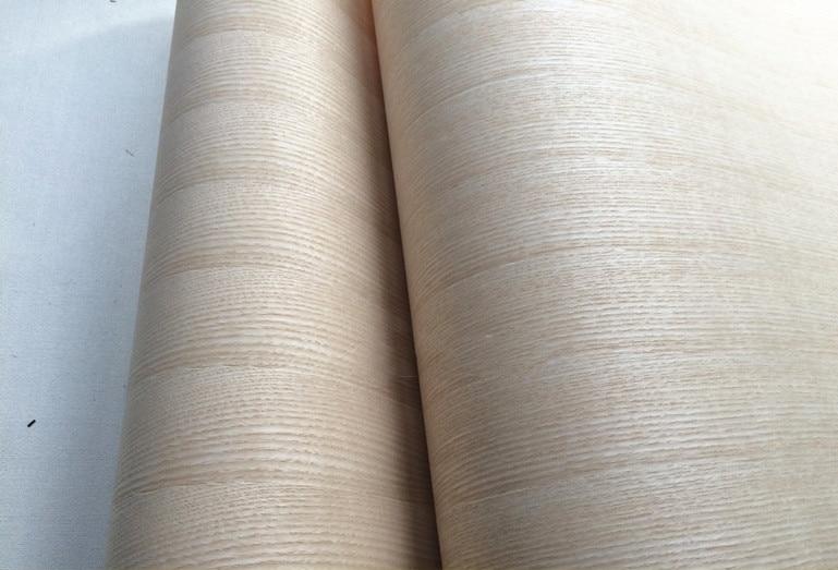 Integrate Natural Genuine Wood Veneer Sliced Veneer for Furniture 62cm x 2.5m Backing Kraft Paper White Ash Q/C