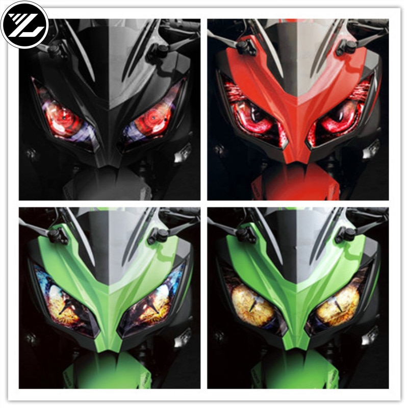 Наклейка на мотоцикл тела Защита фар наклейка модификации наклейка на рассеиватель для Kawasaki ninja 250 ниндзя 300 ZX636 ZX-6R