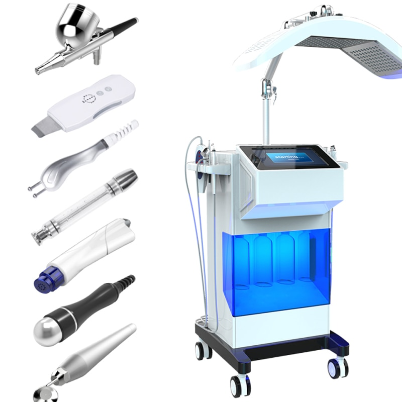 8 In 1 PDT Hydro Dermabrasion Facial Skin deep cleansing Oxy-spray Peel Water Oxygen Jet Microdermabrasion Diamond Peel Machine