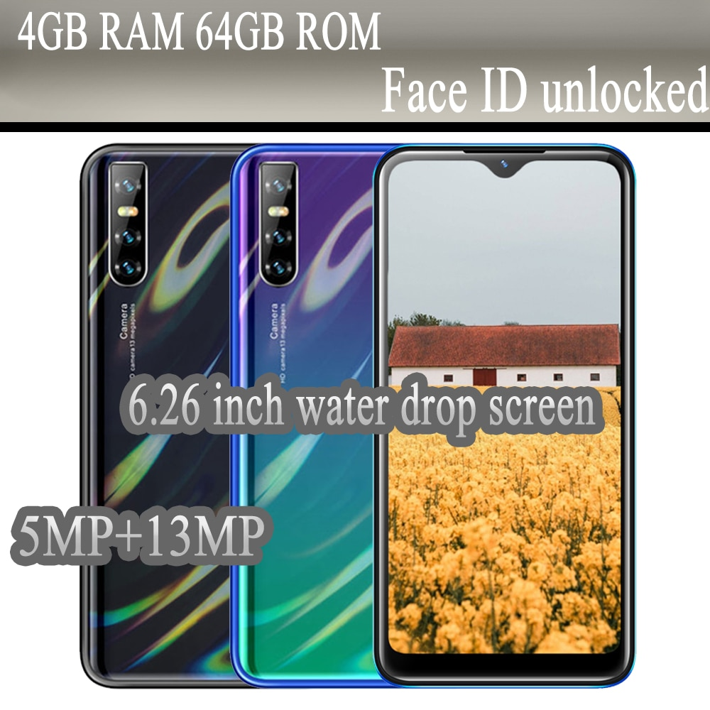 Global Version Note 8T 5MP+13MP 6.26inch Water Drop Android Mobile Phones Smartphones 32G/64G ROM 4G RAM Unlocked Cheap Celulars