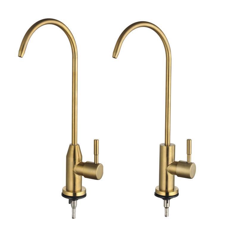 304 الفولاذ المقاوم للصدأ نحى الذهب منقي مياه صنبور المطبخ منقي مياه صنبور مياه الشرب المباشر