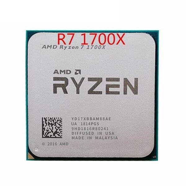 Procesador de CPU AMD Ryzen 7 1700X R7 1700X 3,4 GHz de ocho núcleos YD170XBCM88AE Socket AM4