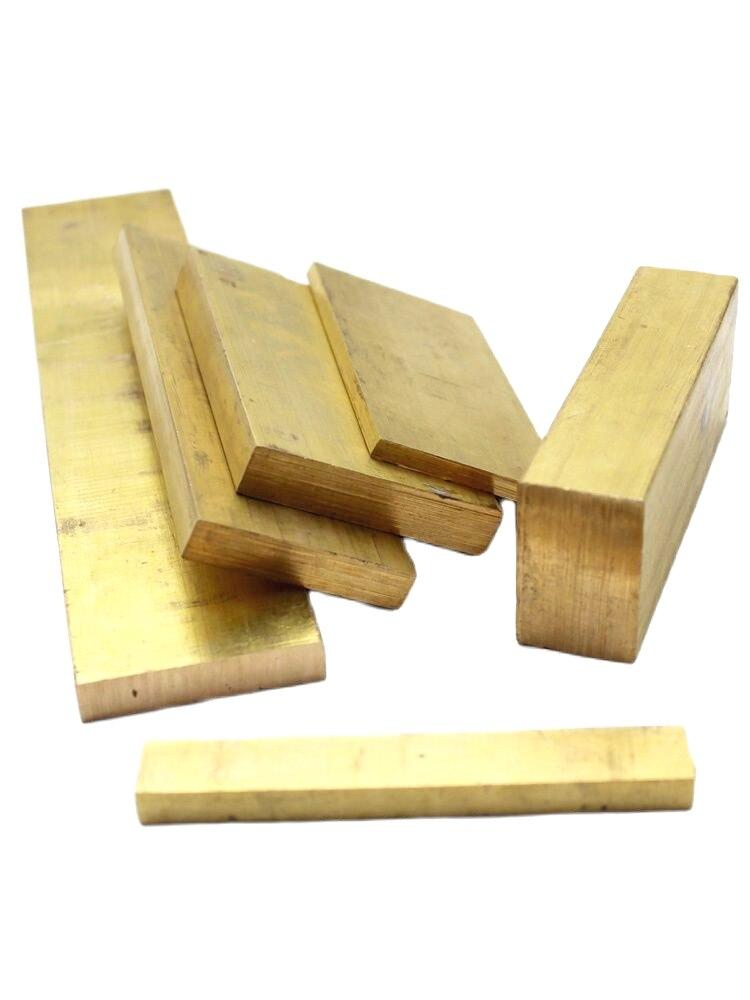 Латунная прямоугольная планка, толщина от 25 мм до 50 мм, длина 100 мм