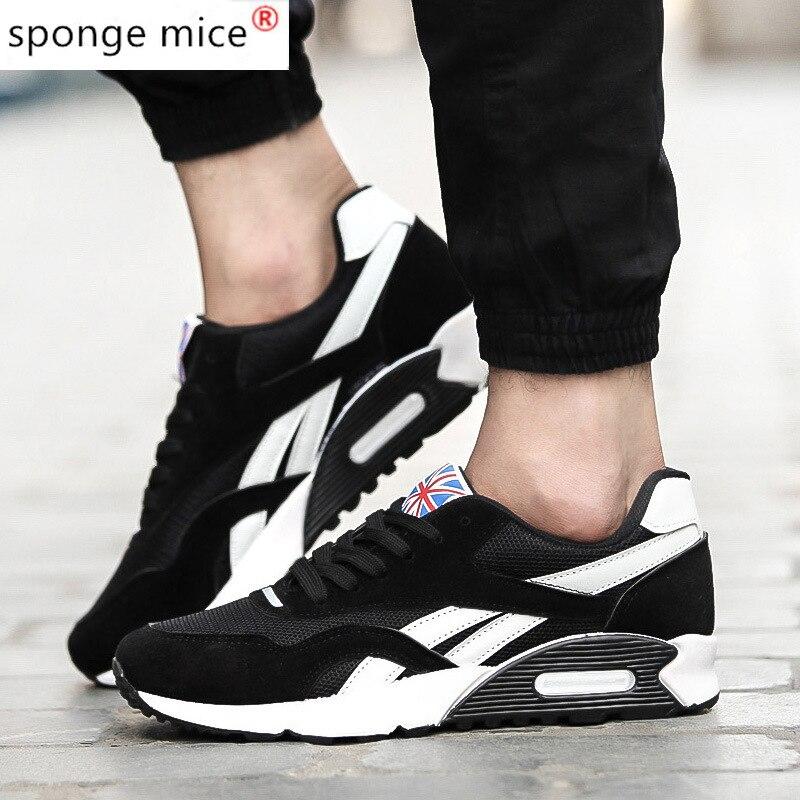 Tênis de Corrida para Homens 2021 para Homens Ranmo Jovens Sapatos Casuais Malha Tenis Masculino Adulto Dropshipping Luz