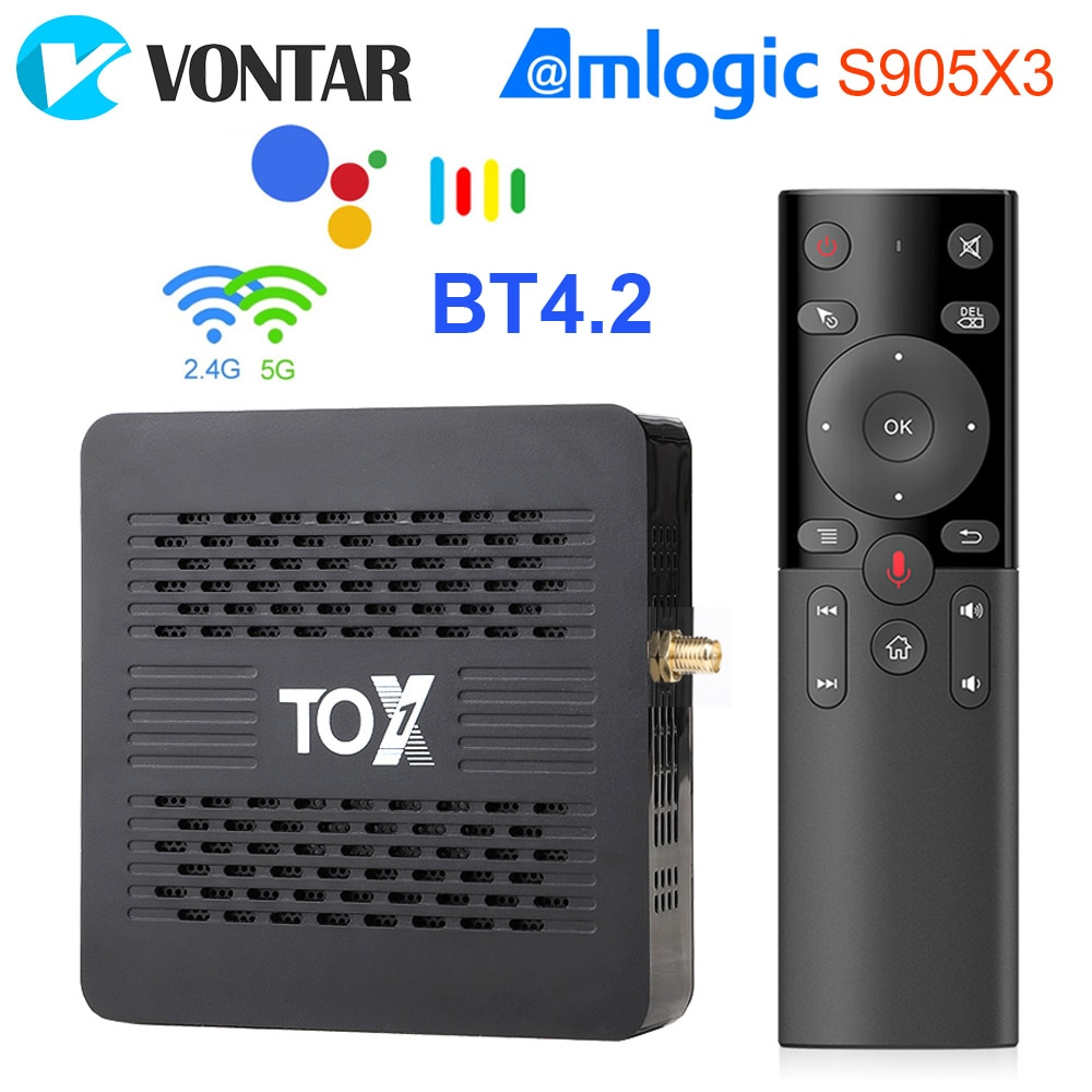 Ugoos TOX1 Android 9.0 Tv Box Smart Tv box 4GB RAM 32GB Amlogic S905X3 Dual Wifi 1000M 4K Media Play