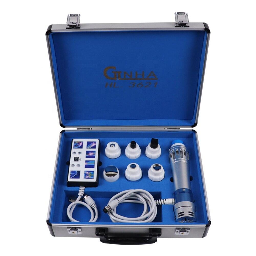 جهاز تدليك الجسم صغير محمول 19ED الكهرومغناطيسية خارج الجسم صدمة موجة العلاج آلة لتخفيف الآلام مدلك الجسم الاسترخاء
