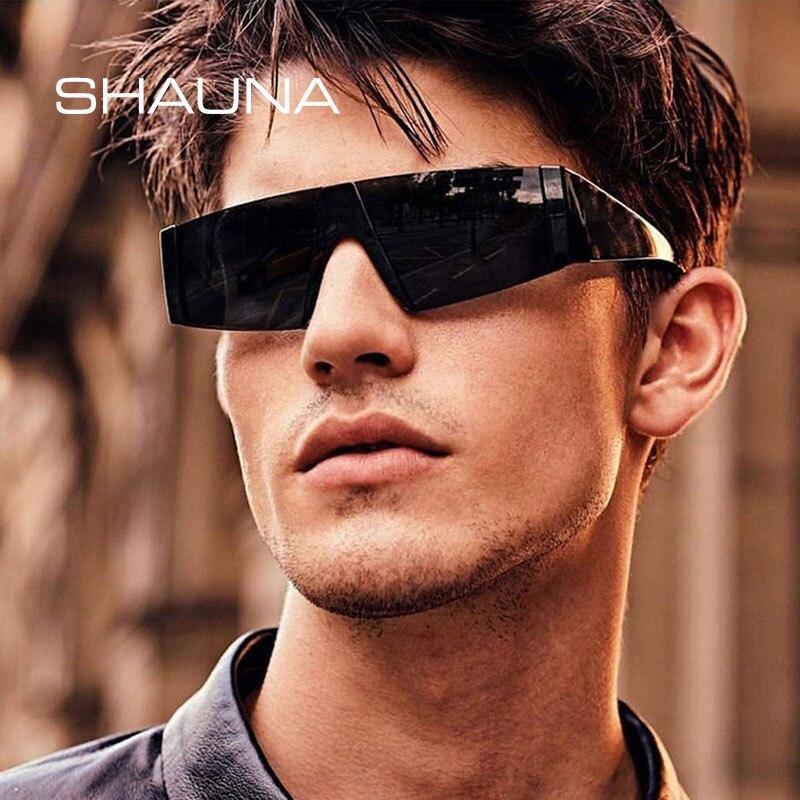 SHAUNA Fashion Half Frame Sunglasses Women Brand Designer Vintage Men Goggle Glasses UV400