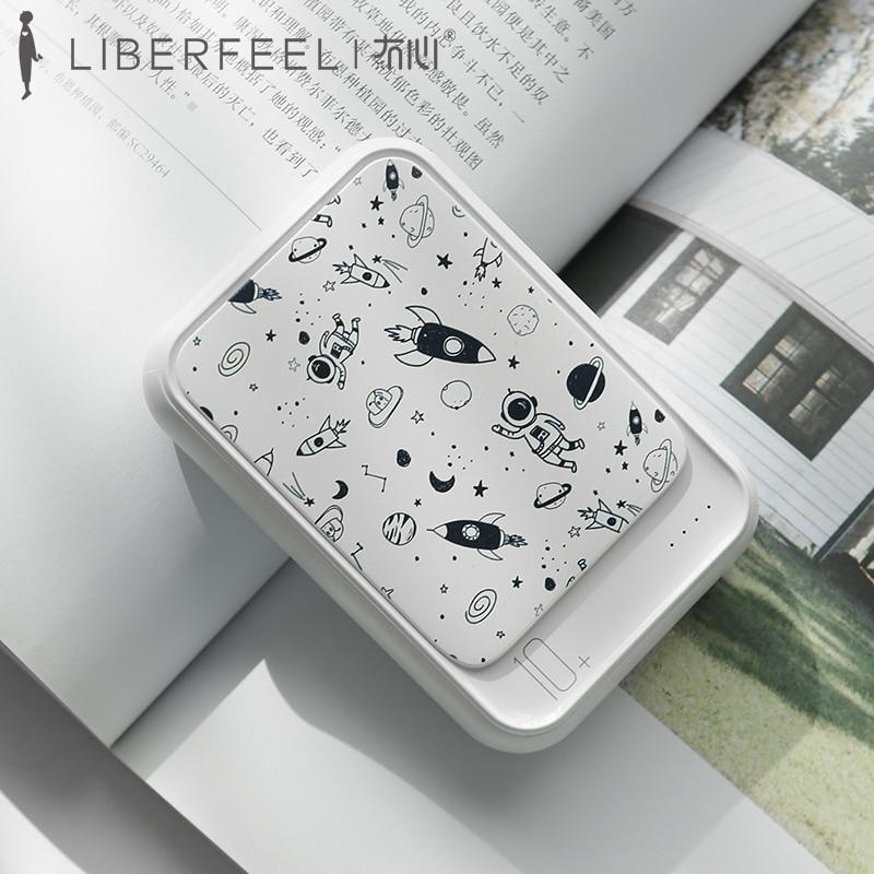 Liberfeel-شاحن محمول Maoxin ، بطارية خارجية من النوع c ، شاحن محمول ، Android ios ، 10000 مللي أمبير ، وردي