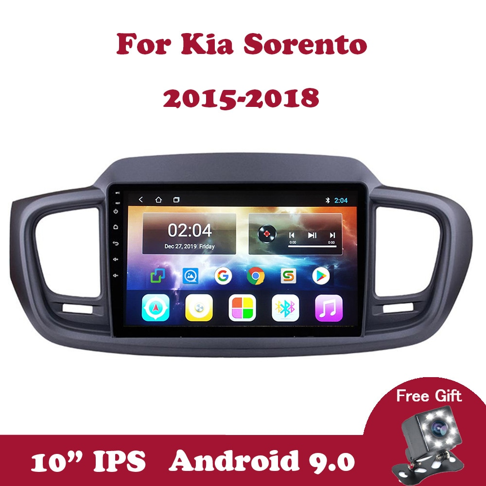 Android 9 Car Radio Stereo Multimedia Player For Kia Sorento 2015 2016 2017 2018 Support Wifi FM RDS DSP SWC Navigation GPS DVD