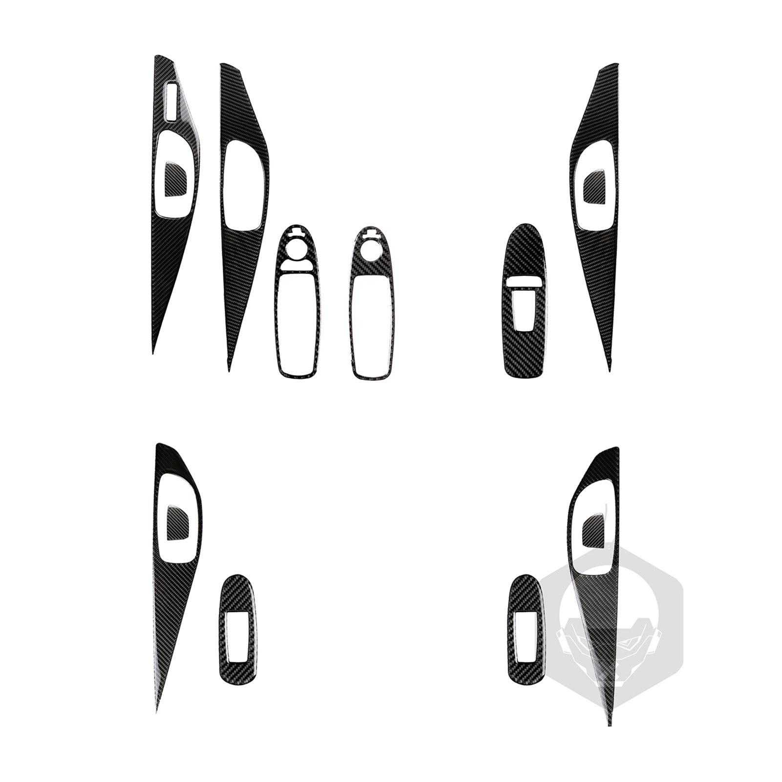 Carbon Fiber Automotive Door Interior Stickers Replacement For Infiniti Q50 Q60 QX50 QX60 Accessories