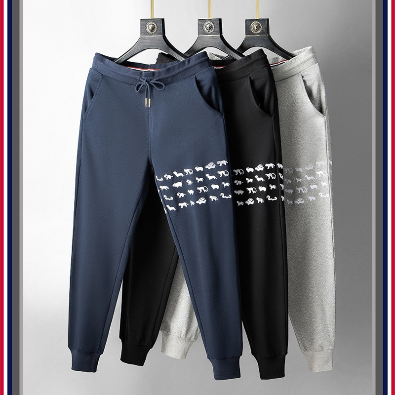 TB FOG Zoo Embroidered Stripe Cotton Pants Sporty Casual Men's Pant pant style
