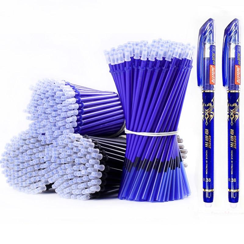 AliExpress - 53Pcs/lot 0.38mm Erasable Washable Pen Refill Rod for Handle Blue/Black Ink Gel Pen School Office Writing Supplies Stationery
