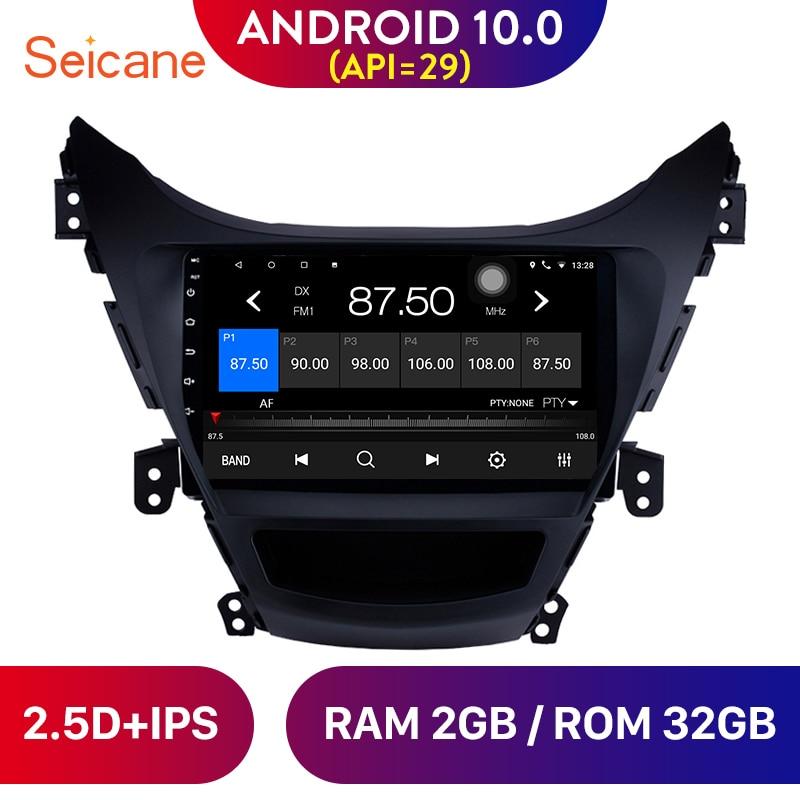 Seicane Android 10.0 Car Radio Multimedia Player For 2011 2012 2013 Hyundai Elantra Support TV tuner DVR 9 Inch GPS Navigation