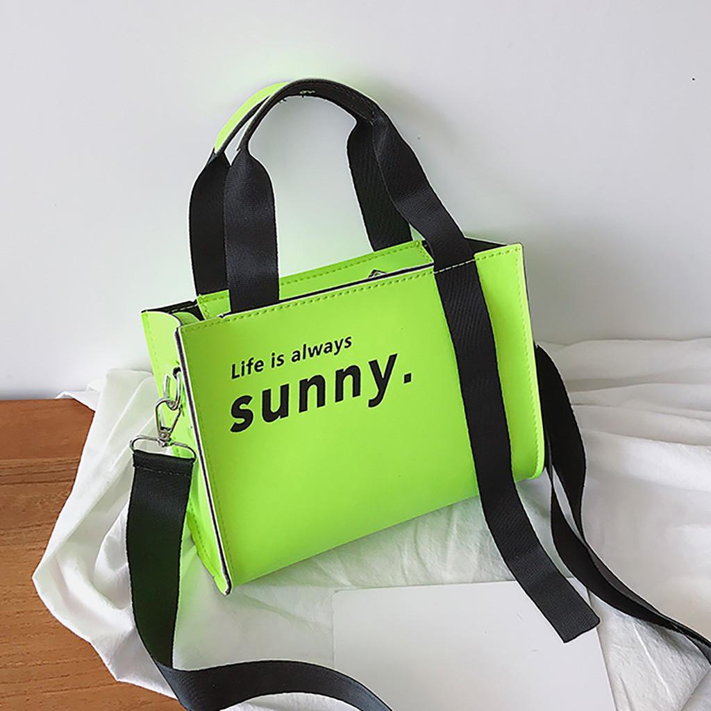 Moda damska fluorescencja kolorowa torba torebka torba torba na co dzień torba na ramię neonowa zielona torebka sac main femme