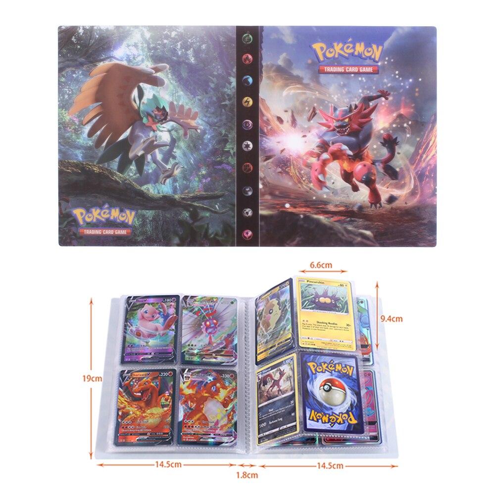 Juego de colección de tarjetas de Pokemon para niños, libro de fotos,...