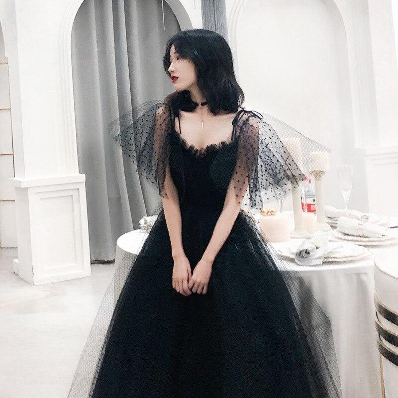 Vestido de noche largo Vintage negro para mujer, vestidos de fiesta de...