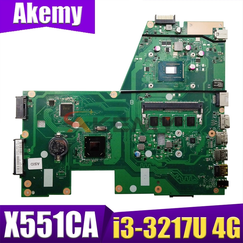 X551CA اللوحة الأم لأجهزة الكمبيوتر المحمول ASUS X551CAP X551C اللوحة الرئيسية الأصلية I3-3217U 4GB-RAM 1xSlot
