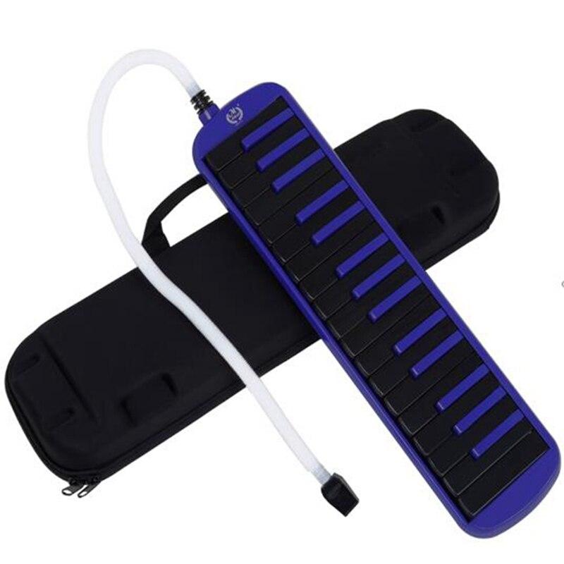 م MBAT 32 مفاتيح أداة ميلوديكا ، سوبرانو ميلوديكا الهواء لوحة مفاتيح البيانو البيانو ، قصيرة الفم ، تحمل حقيبة ، أزرق + أسود