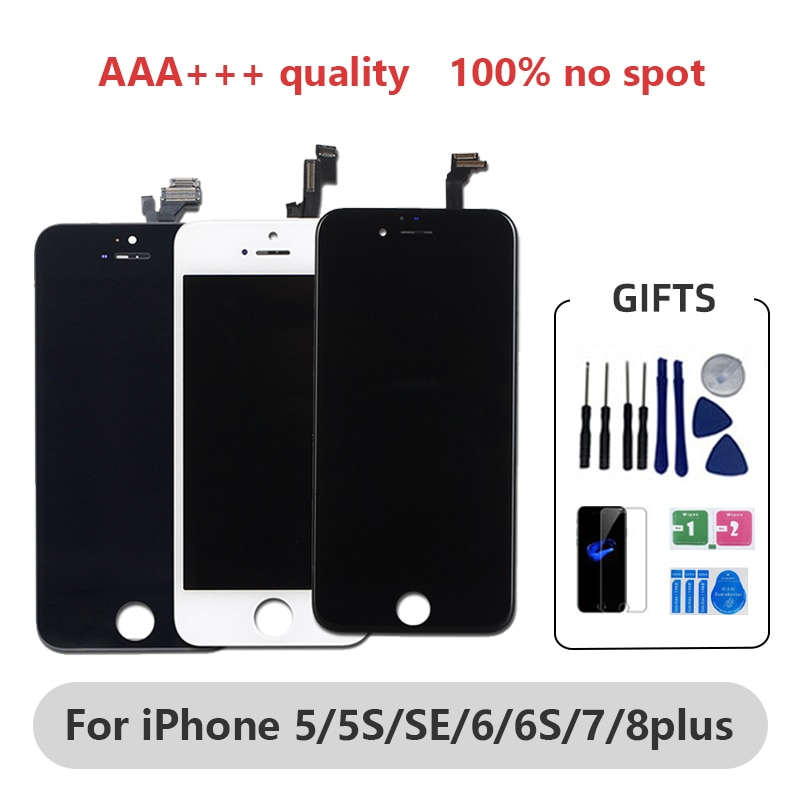 AAA+++ OLED for iPhone X Xs Max LCD Screen for iPhone 6 6s 7 7Plus 8 Plus Replacement Display  Tone for iPhone XR Screen