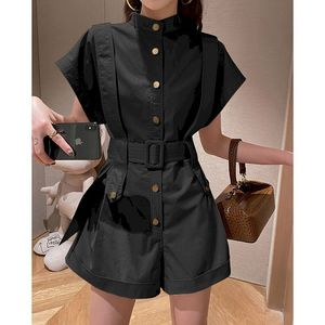 Women's Suit High-waist Tooling Wide-leg Jumpsuit Ladies Jumpsuits Womens Fashion Plus Size Rompers Womens Clothing 2021 Summer