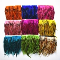 10meters pheasant feathers trim rooster feather trim skirt craft turkey feathers for crafts plume decoration plumas diy decor
