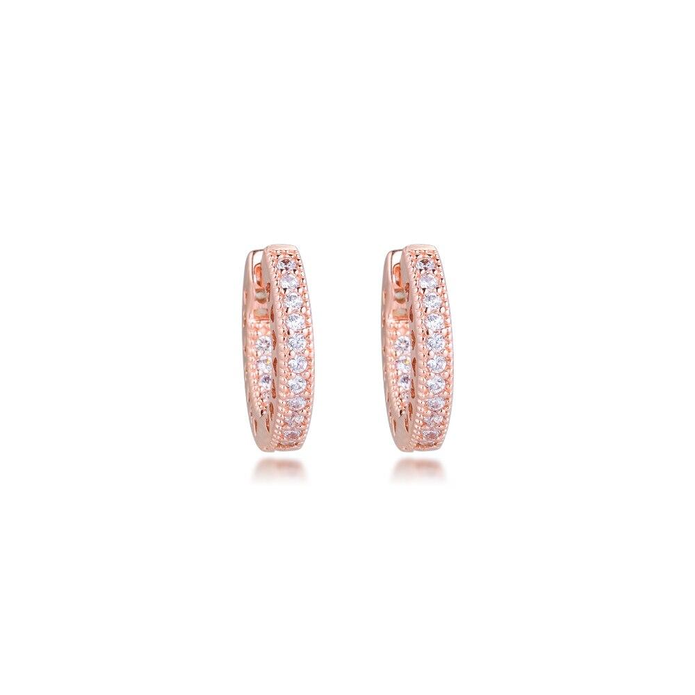 Покрытые розовым золотом серьги из серебра 925 пробы Серьги-кольца в форме сердца розы Аутентичные серьги из серебра 925 пробы Подарочные ювелирные изделия
