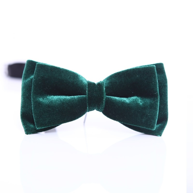 High Quality 2020 New Arrivals Velvet Bow Ties for Men Fashion Smooth Butterfly Solid Red Maroon Bowties Designers Brand Bow tie