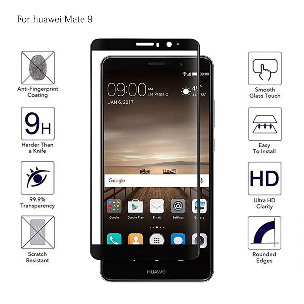 Full Cover Tempered Phone Glass For Huawei Mate 8 9 Full Coverage Screen Protector For Huawei Mate8 Mate9 Protective Film Glass
