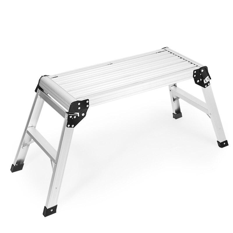 Silla de Banco pequeña plegable paso a paso, mopa, taburete izquierdo para exterior, escalera, 150kg, silla de lavado con luz de paso, taburete de baño con grava