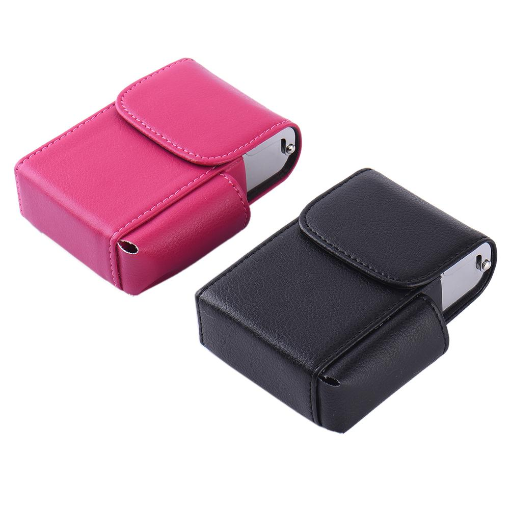 Black/Rose Cigarette Box Lighter Holder Tobacco PU Leather Smoker Nice Gift Smoke Tools Cigar Case M