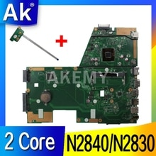 AK X551MA carte mère dordinateur portable pour For Asus X551MA X551M X551 F551MA D550M Test carte mère dorigine 2 Core CPU N2840/N2830 CPU