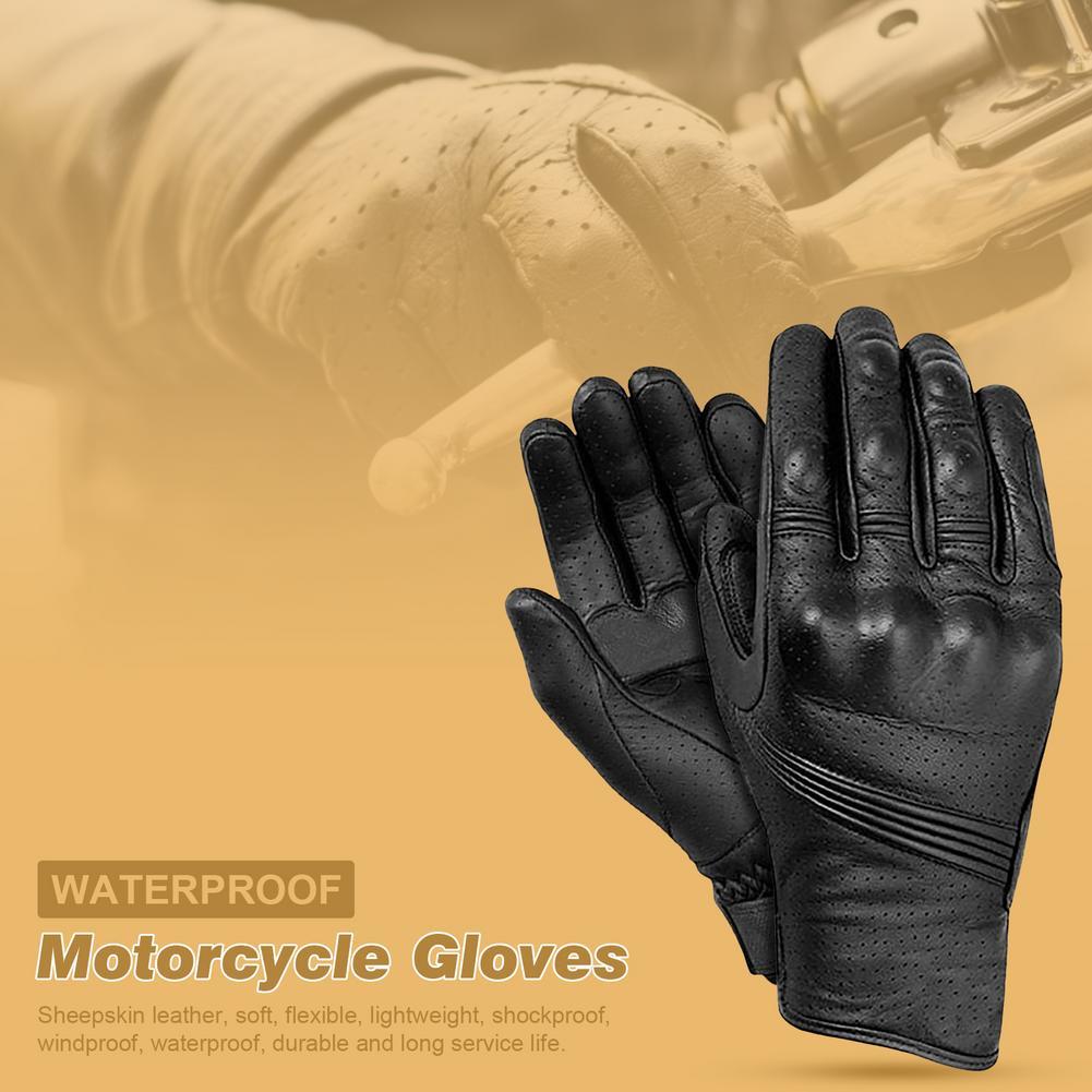L/XL/XXL Winter Riding Warm Gloves Motorcycle Riding Anti-drop Gloves Retro Sheepskin Waterproof Gloves Winter Warm Accessories enlarge