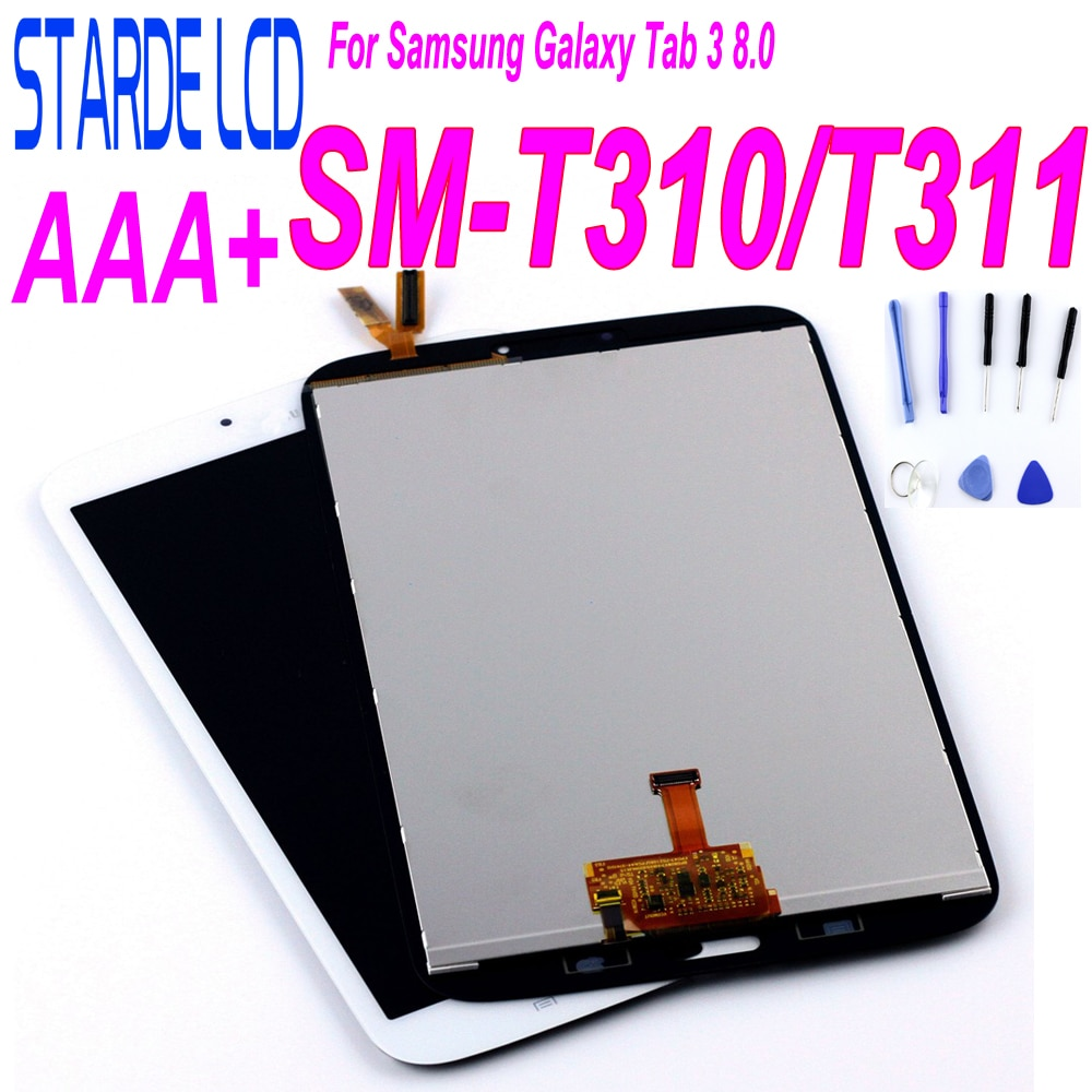 9h 2 5d tempered glass for samsung galaxy tab 3 t310 t311 8 screen protect clear cover for sm t310 sm t311 protector film 0 3mm LCD For Samsung Galaxy Tab 3 8.0 T310 T311 SM-T310 Display SM T311 LCD Display Matrix Touch Screen SM-T311 Digitizer Sensor Part