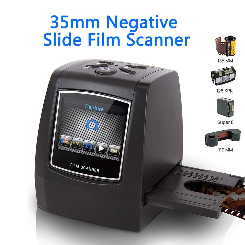"MINI escáner de película negativa de 5MP y 35mm, película fotográfica de diapositiva negativa, convierte Cable USB, LCD Slide 2,4 ""TFT para imagen"